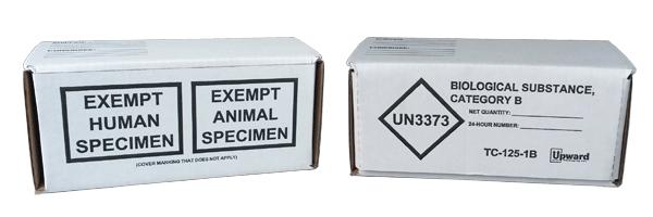 UN3373 Packaging, exempt specimen kit, UN3373 box, IATA UN3373 boxes, TDG UN3373 kit